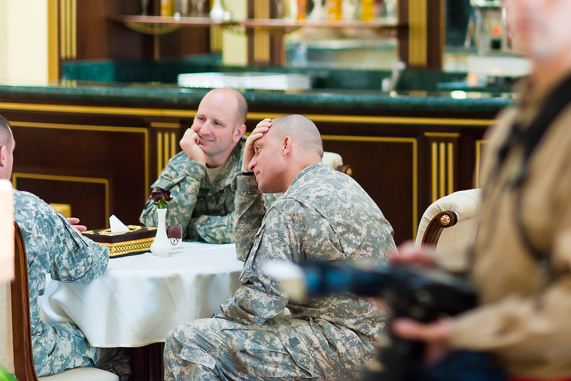 6 DEC 2011 - OSC-I Chief and NTM-I Commander LTG Robert L. Caslen, Jr. attends the Iraq - UAE Security Cooperation Meeting with GEN Austin (USF-I CG), General Babakir Zebari (Chief of Staff, Iraqi Joint Forces), LTG Hamad Mohammed Thani Al Rumaithi (Chief of Staff, UAE Armed Forces) and other leaders.  Baghdad, Iraq.  Photo by CW3 Richmond