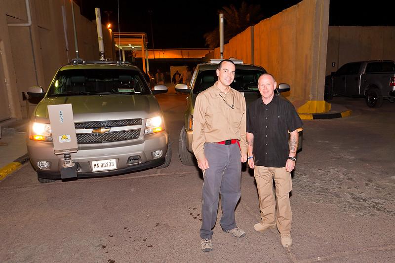 6 DEC 2011 - OSC-I Chief and NTM-I Commander LTG Robert L. Caslen, Jr.'s PSD crew, FOB Union III, Baghdad, Iraq.  Photo by CW3 Richmond