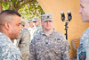 8 DEC 2011 - CPT Stewart hard at work in front of the Babylon Conference Center, FOB Union III, Baghdad, Iraq.  Photo by John D. Helms - john.helms@iraq.centcom.mil.
