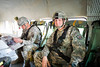 24 DEC 2011 - OSC-I Chief LTG Robert L. Caslen, Jr. and OSC-I CSM George Manning visit Besmaya, Iraq for meetings.  Photo by John D. Helms - john.helms@iraq.centcom.mil.