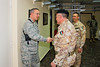 17 DEC 2011 - Rehearsal for the NTM-I End of Training Mission Ceremony, Babylon Conference Center, FOB Union III, Baghdad, Iraq.  Photo by John D. Helms - john.helms@iraq.centcom.mil.