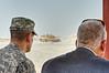 7 JUN 2011 - LTG Ferriter (USF-I / NTM DCG A&T) tours Besmaya range complex and observes M1 tank demonstration with Iraq NSA.  Photo by John D. Helms.