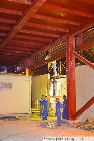 7 AUG 2011 - Last night of construction improvements at Robert Hernandez Dining Facility, FOB Union III, Baghdad, Iraq. Photo by John D. Helms - john.helms@iraq.centcom.mil.