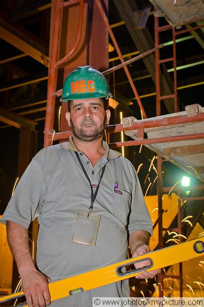 13 JUL 2011 - Construction improvements at Robert Hernandez Dining Facility, FOB Union III, Baghdad, Iraq. Photo by John D. Helms - john.helms@iraq.centcom.mil with SFC Tohonn Nicholson.