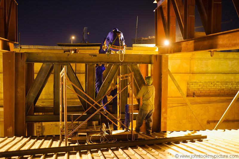 5 JUL 2011 - Construction improvements at Robert Hernandez Dining Facility, FOB Union III, Baghdad, Iraq. Photo by John D. Helms - john.helms@iraq.centcom.mil.