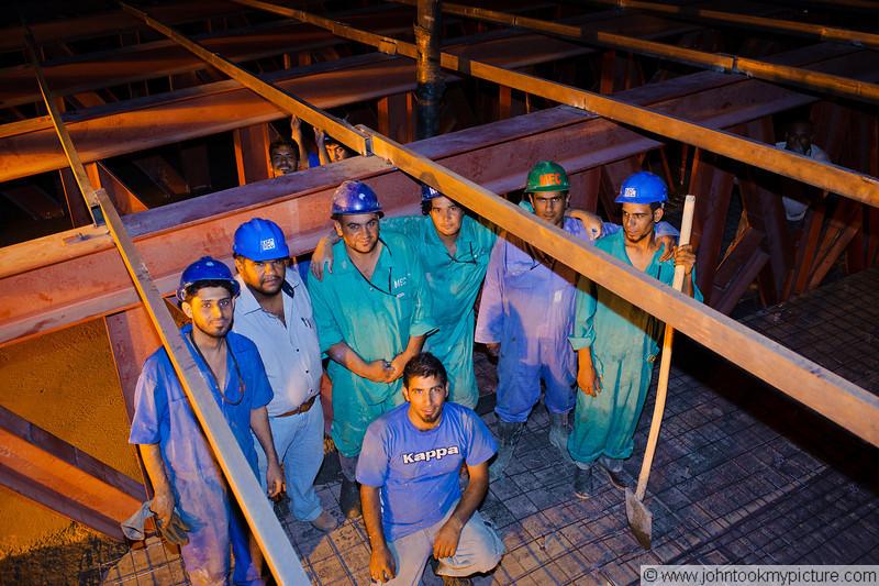 28 JUL 2011 - Construction improvements at Robert Hernandez Dining Facility, FOB Union III, Baghdad, Iraq. Photo by John D. Helms - john.helms@iraq.centcom.mil with SFC Tohonn Nicholson.