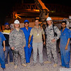 28 JUL 2011 - Construction improvements at Robert Hernandez Dining Facility, FOB Union III, Baghdad, Iraq. Photo by John D. Helms - john.helms@iraq.centcom.mil with SFC Tohonn Nicholson.