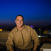24 JUL 2011 - Sunset portrait lighting tests on top of building six, FOB Union III, Baghdad, Iraq. Photo by 1Lt Monica Wade.