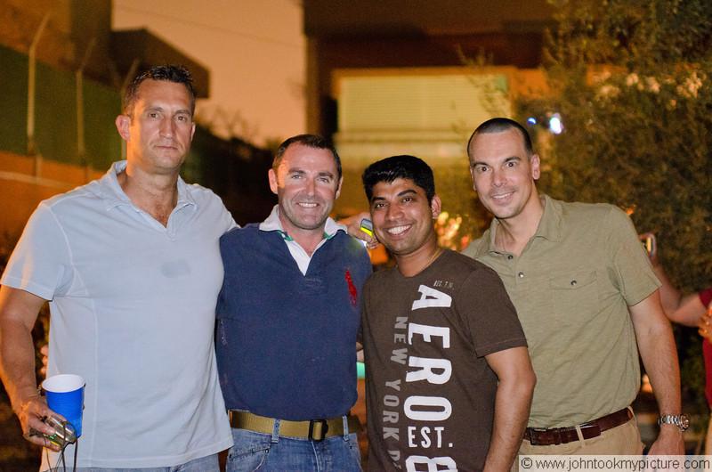 11 AUG 2011 - Pizza Party at the Italian Embassy, Baghdad, Iraq. Photo by John D. Helms - john.helms@iraq.centcom.mil.
