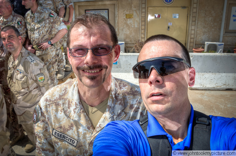 26 AUG 2011 - NATO Training Mission - Iraq group photo, FOB Union III, Baghdad, Iraq. U.S. Army photo by John D. Helms - john.helms@iraq.centcom.mil.