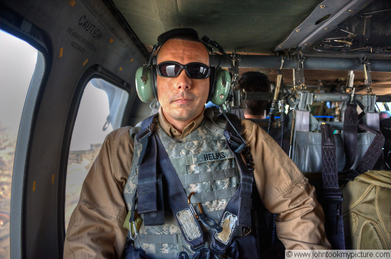 2 SEP 2011 - Boarded the Blackhawks for a quick 5 minute flight at 6:30.  We were checking in at Sather Air Base / VBC by 6:45.   U.S. Army photo by John D. Helms - john.helms@iraq.centcom.mil.