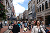 Grafton Street, shopping central.  The number of pedestrians is mind-boggling.