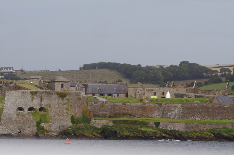 Charles Fort viewed from a cruise in Kinsale Harbor.  From this fort the British defeated both the Irish and the Spanish Armada in the Battle of Kinsale in 1601, leading to the Flight of the Earls and the domination of Ireland by England.