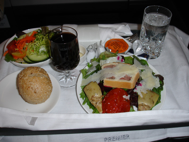 This is just the appetizer course for dinner on Premier Class.