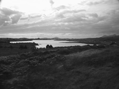 Connemara County  Countryside B&W 1