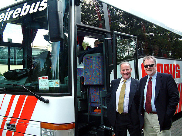 Huw our Tour Director and Sean our Driver