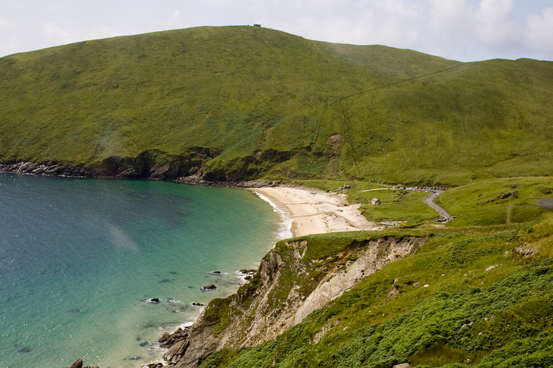 We arrived at Keem Bay, Achill Island.