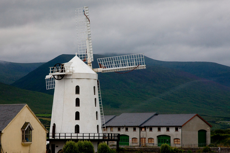 On the drive back from Dingle we sped by this windmill which we were told was the second largest in Europe.