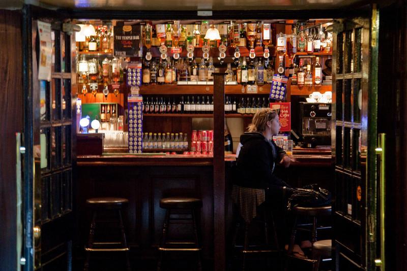 Inside the Temple Bar pub, Temple Bar, Dublin.