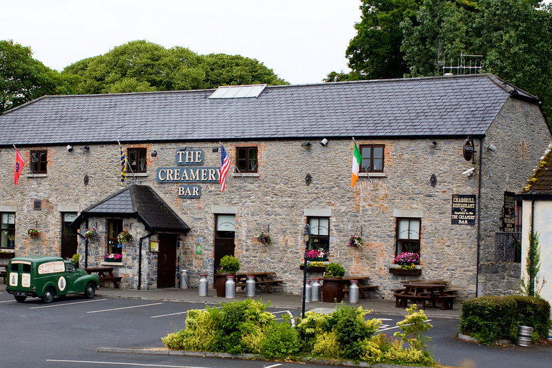 Across the street from the Shannon Shamrock Hotel was a pub called the Creamery where we spent our second evening with pints of Guiness and samples of Tullamore Dew whiskey.