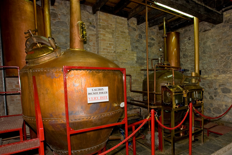 This was a small working pot still in a room next to the barrel storage.