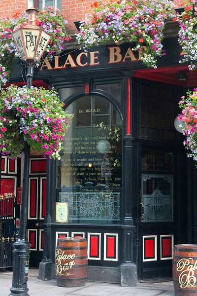 A pub in Temple Bar and the ever present flowers.