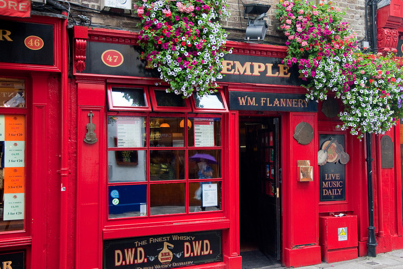 This is the Temple Bar pub in Temple Bar and again the ever present flowers.