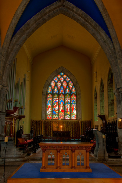 This is a HDR (high dynamic range) photo of the interior of St. Nicholas Church, Galway.  St. Nicholas was the patron saint of sailors before he was the patron saint of children and Christmas.