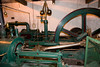This is the steam engine that was only used on the occasions that the water wheel could not run the machinery (105 hp).
