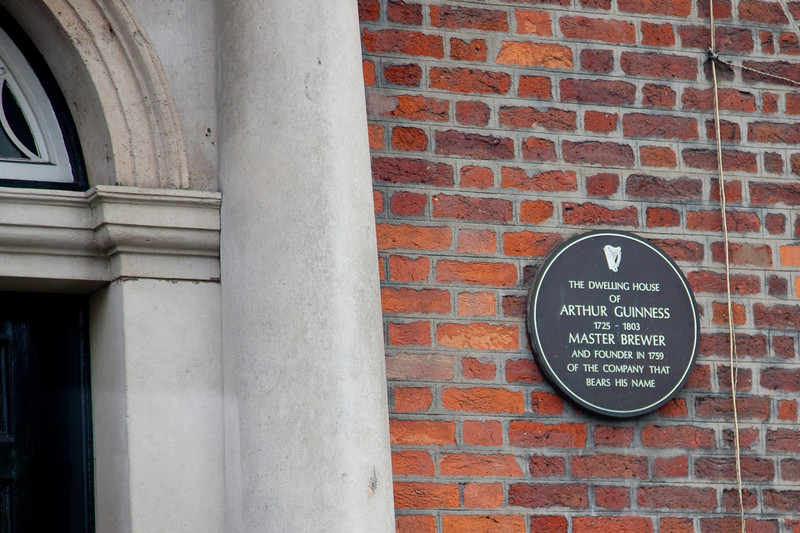 This is the home of Arthur Guiness who created Guinness in 1759 and the rest is history...