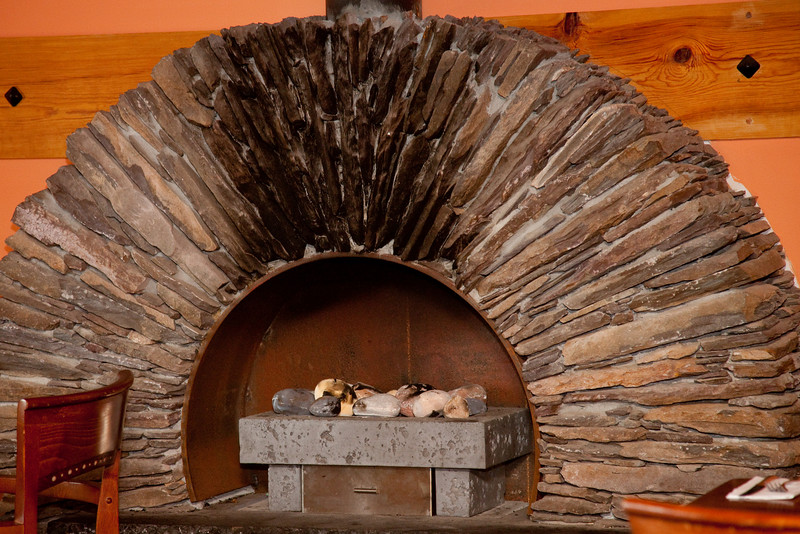 Our next stop was Inch Beach; we invaded this local pub which had an unusual fireplace.