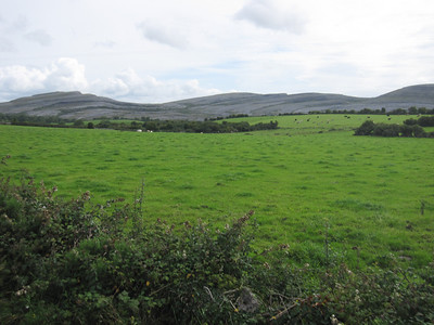 The Burren in the distance