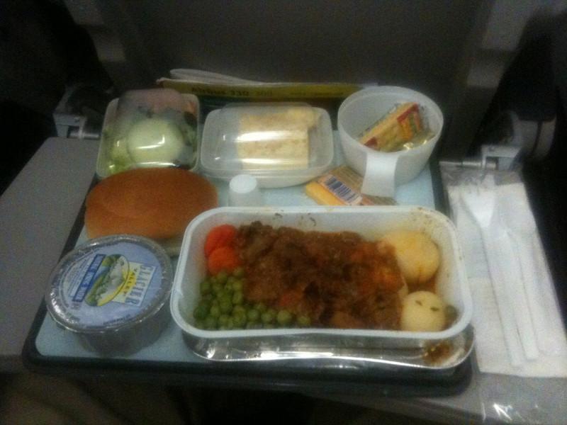 Meal on Aer Lingus flight to Dublin
