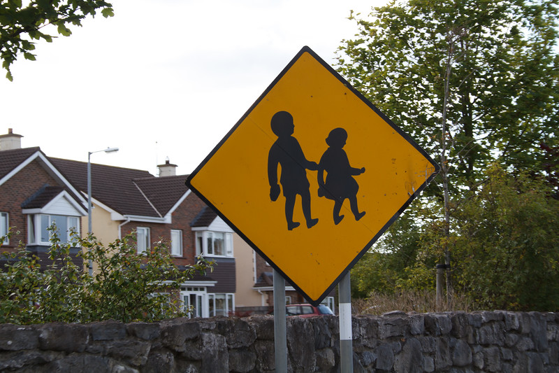 Love the Irish school crossing sign.