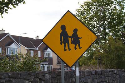Love the Irish school crossing sign.