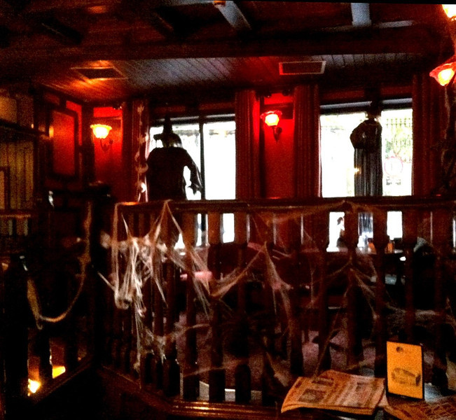 Halloween decoration in a pub. Navan, Ireland