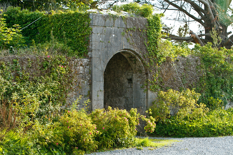 This is one of the archways that leads to the stables and many fields in the back of the house.