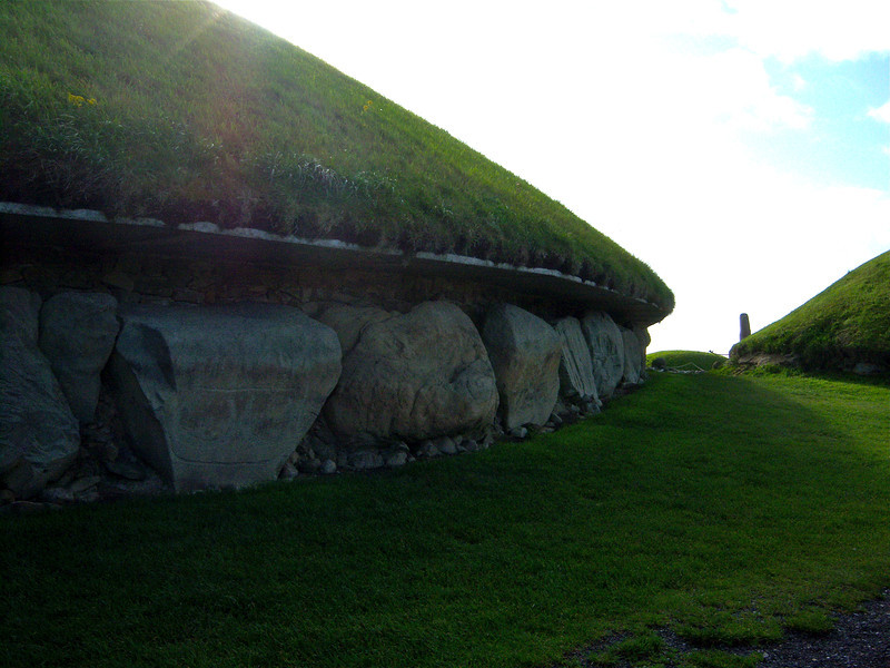 Close-up of Knowth mound