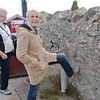 Laurie kicks the wall near Galway to assure a return to Ireland
