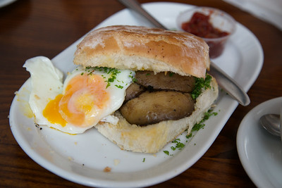 A breakfast Blaa in Cork. Good!
