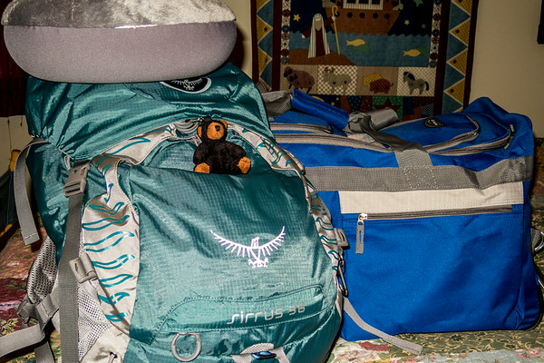 I think I'm about ready to go.  Plane takes off at 5:45 AM tomorrow morning.<br /> Tuesday, August 12, 2014