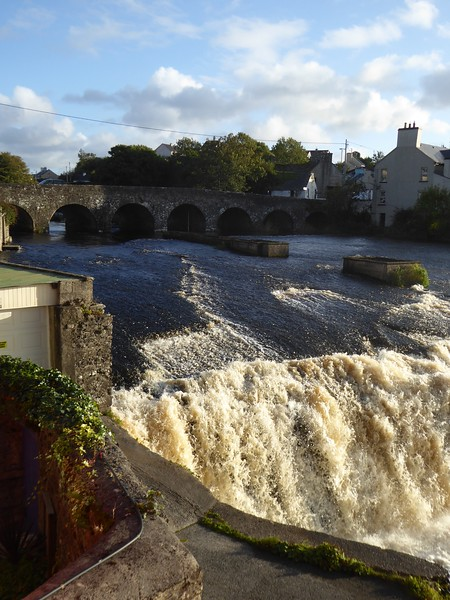 View from Byrnes Restaurant, Ennistymon