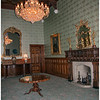 Drawing room with Waterford chandelier