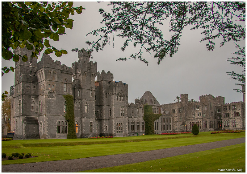 Ashford castle facing Lough Corrib