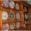 Plate collection on display