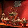 Tea set on display