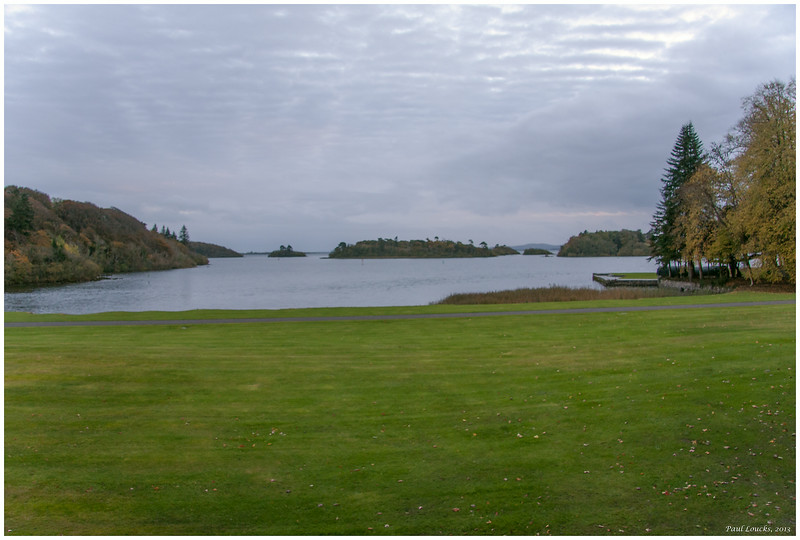 Northern end of Lough Corrib beside the castle