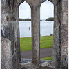 View of Lough Corrib through guardhouse window