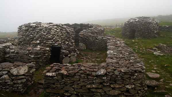 Beehive huts on Dingle peninsula. They are said to be an unbelievable 4000 years old and have been inhabited until about 1200 AD.