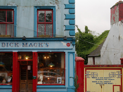 Dick Macky's in Dingle. Opposite the church.
